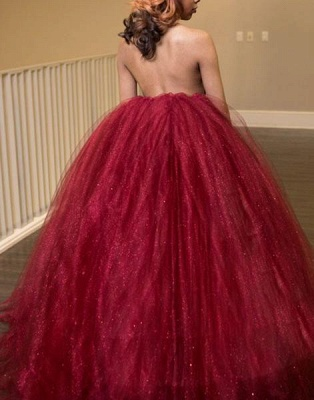Gorgeous High-Neck Tulle Evening Dress Ball Gown Prom Dress_2