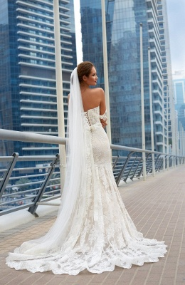 Glamorous Off-the-Shoulder 2020 Wedding Dress Sweetheart With Lace Mermaid Bridal Gowns_3