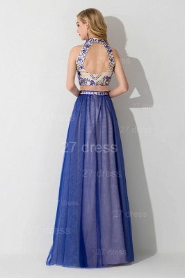Modern Halter Two Piece Evening Dress Floor-length_3