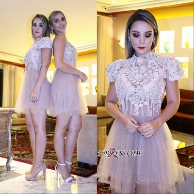 Lace shaort prom dress, 2020 lace homecoming dress_4