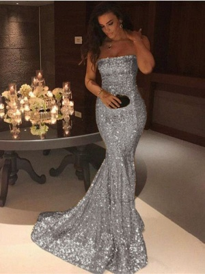 Gorgeous Strapless Mermaid 2020 Evening Dress Long On Sale_4