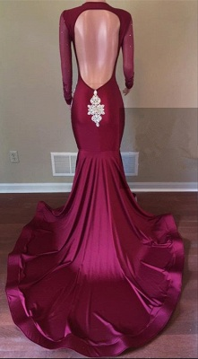 Gorgeous Long Sleeve 2020 Prom Dress | Lace Beadings Mermaid Evening Gowns_3