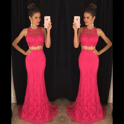 Delicate Mermaid Lace 2020 Prom Dress Two Piece AP0_3