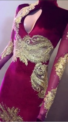 Elegant High-Neck Long Sleeve Prom Dresses | 2020 Mermaid Lace Evening Gowns_3
