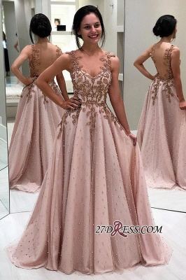 Floor-length Sweetheart Amazing A-line Appliques Prom Dresses_1