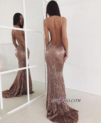 Sequin Sweep-train New-arrival Sexy Beading Backless Prom Dress_1