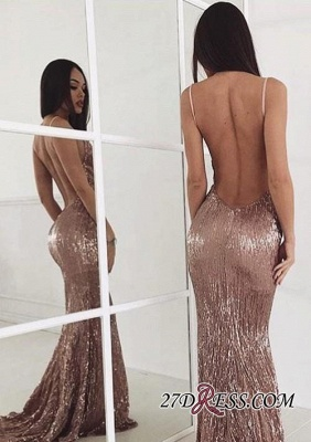 Sequin Sweep-train New-arrival Sexy Beading Backless Prom Dress_2