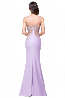 Sexy Illusion Appliques Mermaid 2020 Prom Dress Zipper Floor-length_3