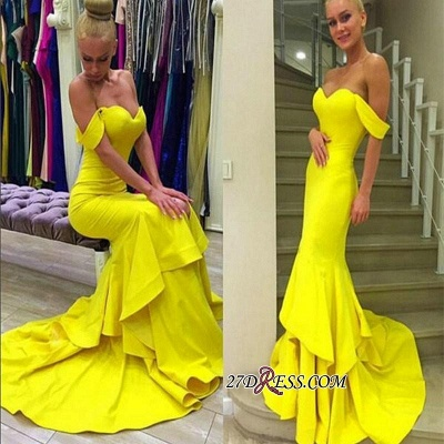 Off-the-Shoulder Sexy Sweep-Train Mermaid 2020 Prom Dress qq0248_3