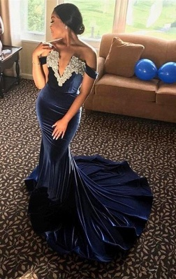 Off-the-Shoulder Mermaid Prom Dress   2020 Formal Gowns_1