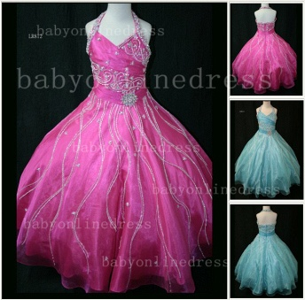 Teens Glitz Pageant Dresses for Girls with Inexpensive Formal Gowns 2020 Sweetheart Beaded Crystal_1