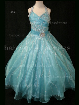 Teens Glitz Pageant Dresses for Girls with Inexpensive Formal Gowns 2020 Sweetheart Beaded Crystal_2