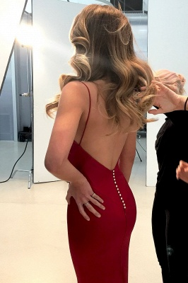 Spaghetti Straps Long Prom Dress   2020 Mermaid Evening Party Gowns BA9271_4