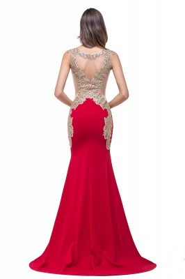 Delicate Mermaid Appliques Straps 2020 Prom Dress Sweep Train Sleeveless_3