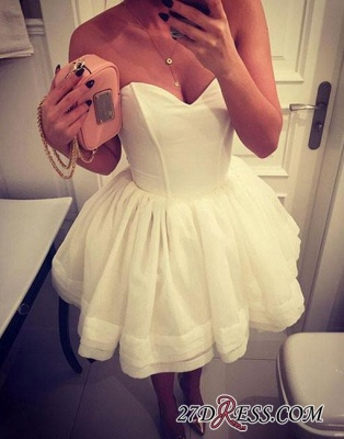 A-line White Sweetheart-neck Cute Short Homecoming Dress_3