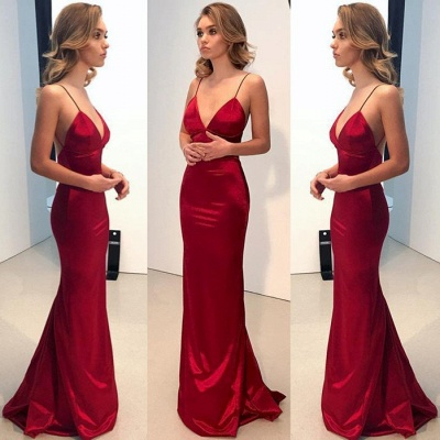 Spaghetti Straps Long Prom Dress   2020 Mermaid Evening Party Gowns BA9271_3