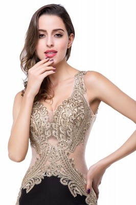 Delicate Mermaid Appliques Straps 2020 Prom Dress Sweep Train Sleeveless_7