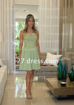 Vestidos Formales Short Lace Prom Dresses 2020 New Arrival Cocktail Gowns Elegant Nude Back Green De Fiesta_5