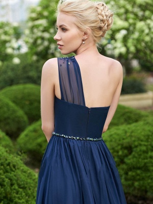Gorgeous One Shoulder Navy Bridesmaid Dresses | 2020 Long Chiffon Prom Dress Online_4