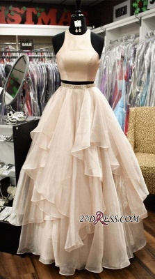 Chic Two-Pieces A-Line Jewel Sleeveless Tiere 2020 Prom Dresses_1