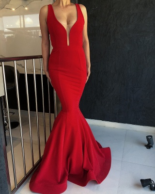 Gorgeous Red Mermaid Evening Dress | 2020 Long Prom Gowns On Sale_1