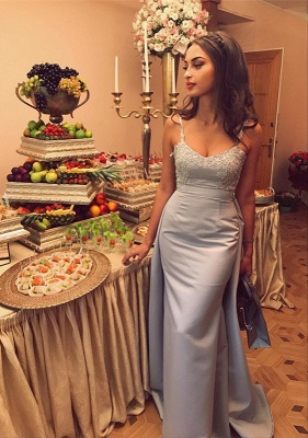 Gorgeous Sleeveless Straps 2020 Evening Dress Lace Appliques Mermaid With Ruffles_4