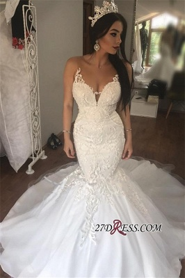 Gorgeous Sleeveless Wedding Dress | 2020 Mermaid Long Bridal Gowns On Sale_2