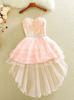 Lovely Sweetheart 2020 Homecoming Dress Short With lace and Beads_1