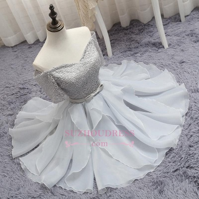 Short A-Line Lace Off-the-Shoulder Bowknot Elegant Homecoming Dress_1
