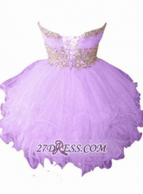 Lovely Semi-sweetheart Sleeveless Short Homecoming Dress With Beadings And Crystals_2