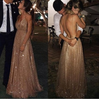 Sexy Backless Sequins Prom Dresses | 2020 Long Evening Gowns BC1004_3