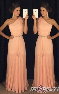 Chiffon Beautiful Floor-Length One-Shoulder Long 2020 Prom Dress BA5243_2