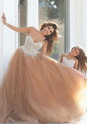 Gorgeous Sweetheart Beadings Prom Dresses 2020 Tulle Mother and Daughter Dress_1