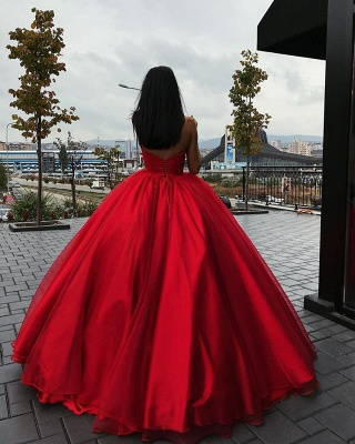 Gorgeous Sweetheart Red Evening Dresses | 2020 Ball Gown Tulle Prom Dresses BC1073_3
