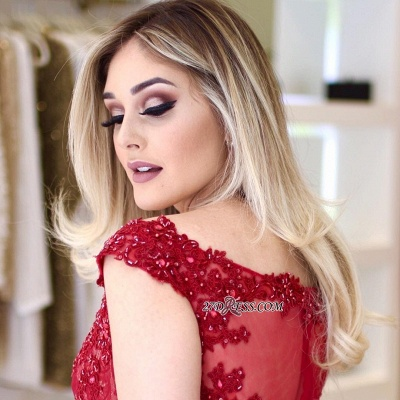 Red lace prom dress, 2020 mermaid evening gowns_3