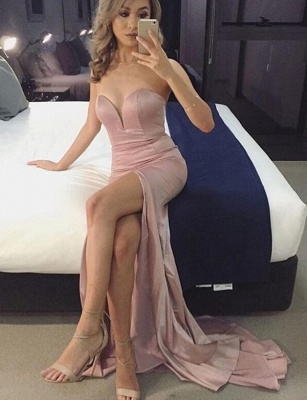 Elegant Sweetheart Prom Dress | 2020 Mermaid Evening Gowns With Slit_1