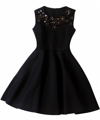 Gorgeous A-Line Sleeveless Homecoming Dress With Sequins_3