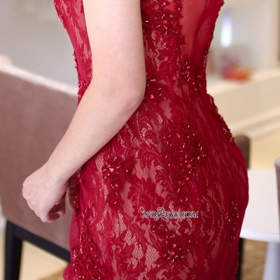 Red lace prom dress, 2020 mermaid evening gowns_2