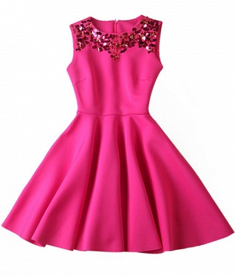 Gorgeous A-Line Sleeveless Homecoming Dress With Sequins_4