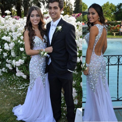 Glamorous Sweetheart Beadings Prom Dresses 2020 Long Chiffon Party Gown_3