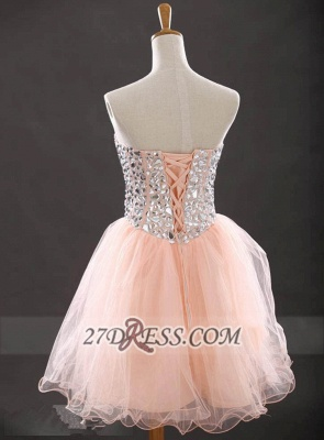 Glamorous Sweetheart Sleeveless Short Homecoming Dress With Crystals Lace-up BA6890_2
