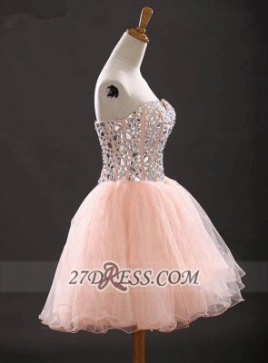Glamorous Sweetheart Sleeveless Short Homecoming Dress With Crystals Lace-up BA6890_4