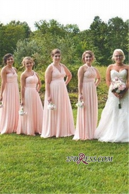 V-neck Sweetheart Delicate A-line One-Shoulder Floor-Length Convertible Bridesmaid Dresses_2