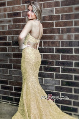 Sleeveless Open-Back Lace Prom Dress | 2020 Mermaid Long Evening Party Dress_3