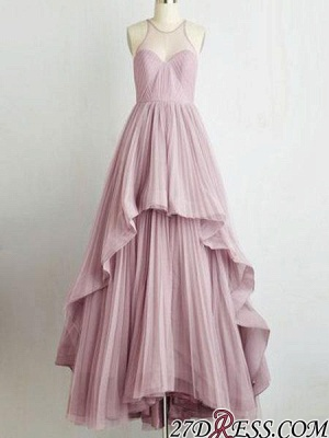 Chic Sleeveless Tiere A-Line Jewel 2020 Prom Dresses On Sale_3
