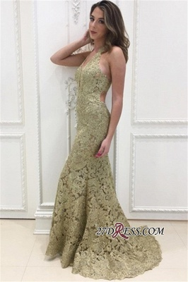 Sleeveless Open-Back Lace Prom Dress | 2020 Mermaid Long Evening Party Dress_2