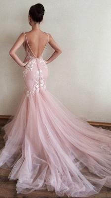 Gorgeous V-Neck Sleeveless 2020 Tulle Prom Dress Lace Appliques_3