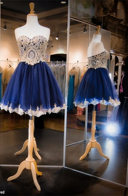 Luxurious Sleeveless Sweetheart Short Homecoming Dress Crystals Appliques_1