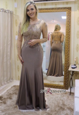Long sleeve prom dresses 2020, beadings evening party dress_1