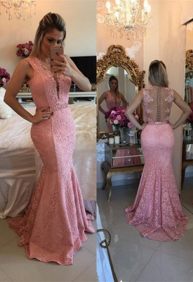 Gorgeous Sleeveless Lace 2020 Evening Dress Mermaid Party Gowns BMT BA9607_1